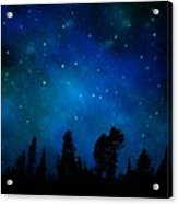 The Heavens Are Declaring Gods Glory Mural Acrylic Print