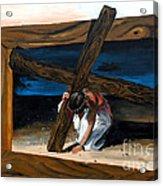 The Heaviest Cross To Bear Acrylic Print by Linda Rae Cuthbertson