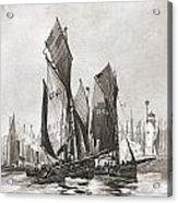 The Herring Fleet, Scarborough Acrylic Print