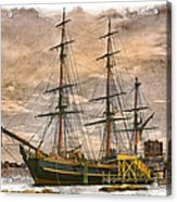 The Hms Bounty Acrylic Print by Debra and Dave Vanderlaan