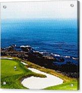 The Hole 7 At Pebble Beach Golf Links Acrylic Print
