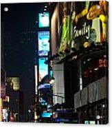The Holidays In Time Square Acrylic Print