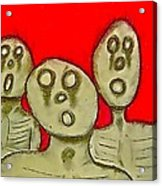 The Hollow Men 88 - Three Walkers Acrylic Print