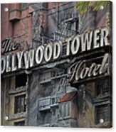 The Hollywood Hotel Signage Acrylic Print