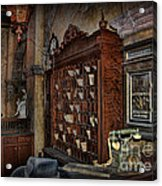The Hollywood Roosevelt Hotel Reception Desk - Haunted Acrylic Print by Lee Dos Santos