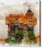 The Hollywood Tower Hotel Disneyland Photo Art 01 Acrylic Print