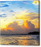 The Honeymoon - Sunset Art By Sharon Cummings Acrylic Print by Sharon Cummings