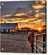The Horse Barn Sunset Acrylic Print