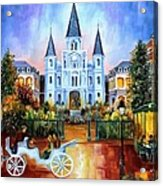 The Hours On Jackson Square Acrylic Print