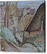 The House Of The Hanged Man After Cezanne Acrylic Print
