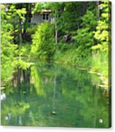 The House On The Bank Of The Lake Acrylic Print