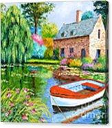 The House Pond Acrylic Print