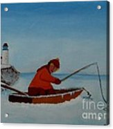 The Ice Fisherman Acrylic Print