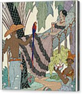 The Idle Beauty Acrylic Print by Georges Barbier
