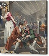 The Idle Prentice Betrayed Acrylic Print by William Hogarth