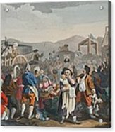 The Idle Prentice Executed At Tyburn Acrylic Print