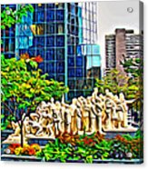 The Illuminated Crowd Of Montreal Acrylic Print