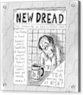The Image Is The Front Cover Of New Dread: Acrylic Print