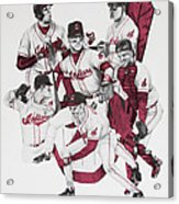 The Indians' Glory Years-late 90's Acrylic Print