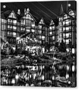 The Inn At Christmas Place Night Acrylic Print