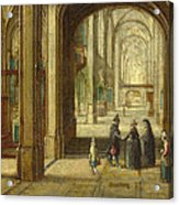 The Interior Of A Gothic Church Looking East Acrylic Print
