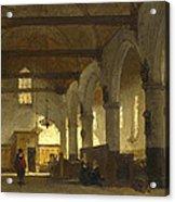 The Interior Of The Bakenesserkerk. Haarlem Acrylic Print