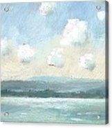 The Isle Of Wight From Portsmouth Part Nine Acrylic Print by Alan Daysh