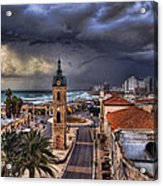 the Jaffa old clock tower Acrylic Print