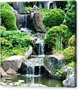 The Japanese Garden Acrylic Print by Bill Cannon