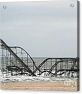 The Jetstar Rollercoaster In Seaside Heights Nj Acrylic Print