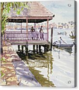 The Jetty Cochin Acrylic Print by Lucy Willis