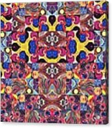 The Joy Of Design Mandala Series Puzzle 3 Arrangement 6 Acrylic Print
