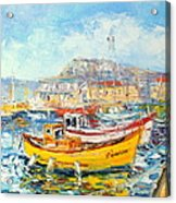 The Kalk Bay Harbour Acrylic Print