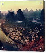 The Karst Mountains Of Guangxi Acrylic Print