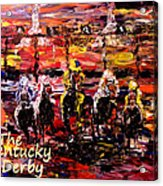 The Kentucky Derby - And They're Off Without Year  Acrylic Print