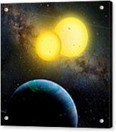 The Kepler 35 System Acrylic Print