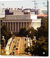 The Key Bridge And Lincoln Memorial Acrylic Print