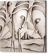 The King Is Dead  Acrylic Print by Simona  Mereu