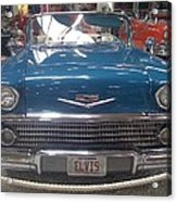Elvis In Blue Acrylic Print