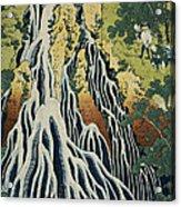 The Kirifuri Waterfall Acrylic Print by Hokusai