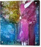 The Kiss Acrylic Print by Deborah Nell