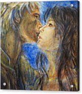 The Kiss In Landscape Acrylic Print