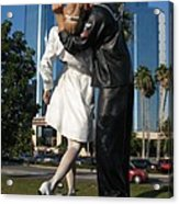 The Kiss - Sailor And Nurse - Sarasota  Acrylic Print