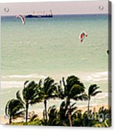 The Kite Surfers Acrylic Print