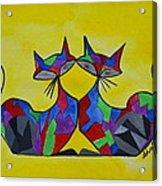 The Kitty Couple Acrylic Print by Shruti Prasad