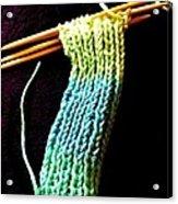 The Knitting Acrylic Print