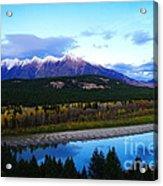 The Kootenenai River Surrounding The Canadian Rockies   Acrylic Print