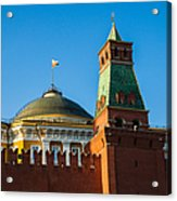 The Kremlin Senate Building - Square Acrylic Print