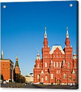 The Kremlin Towers And The State Museum Of Russian History Acrylic Print