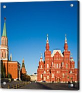 The Kremlin Towers And The State Museum Of Russian History - Square Acrylic Print